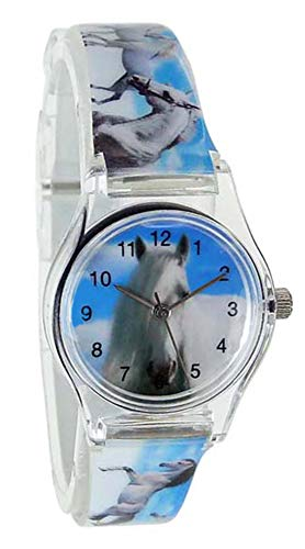 Pacific Time Kinder-Armbanduhr Pferde