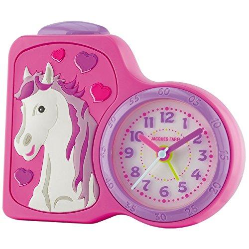 JACQUES FAREL Kinderwecker Mädchen Pferd rosa/pink ohne Ticken
