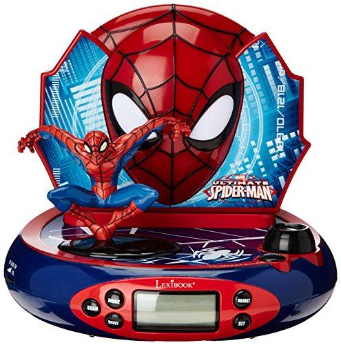 Spider-Man Kinderwecker / Radiowecker mit Projektion